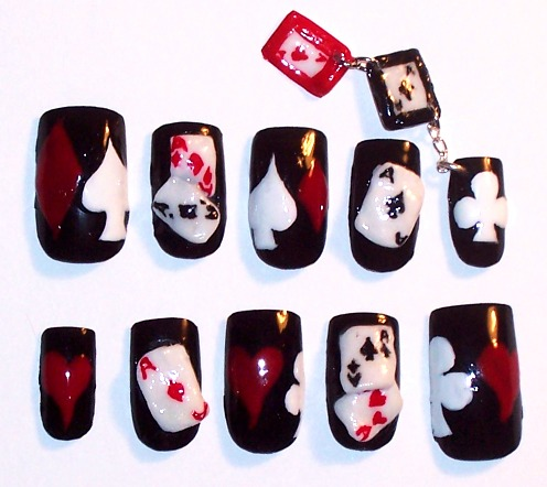 Playing_Card_custom_nails_by_The_Lady_of_Kuo